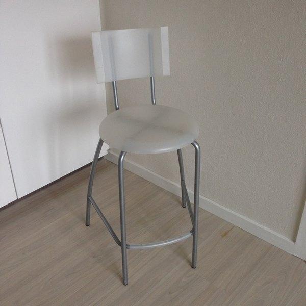 Bar stol - Danmark - Flot hvid stol – som ny - Danmark